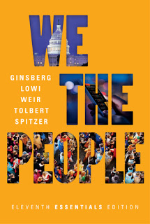 We the People Eleventh Essentials 11E Ginsberg , J. Lowi , Tolbert , Weir Test Bank ( norton Publisher ) 1