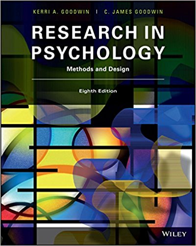 Test Bank and Solution Manual for Research in Psychology Methods and Design, 8th Edition Goodwin, Goodwin 1