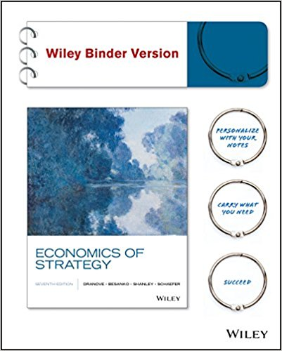 Test Bank and Solution Manual for Economics of Strategy, 7th Edition Besanko, Dranove, Shanley, Schaefer Instructor Manual + Test Bank 1