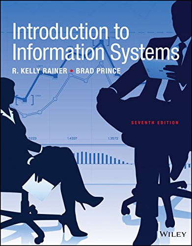 Test Bank and Solution Manual for Introduction to Information Systems, 7th Edition 2017 Rainer, Prince 1