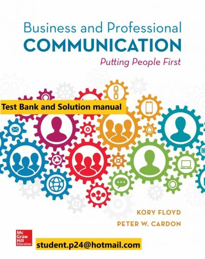 Business and Professional Communication 1st Edition By Kory Floyd and Peter Cardon © 2020 Test Bank and Solution Manual 802x1024 1