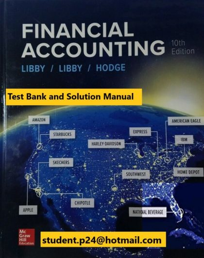 Financial Accounting 10th Edition By Robert Libby and Patricia Libby and Frank Hodge © 2020 Test Bank and Solutions Manual 847x1024 1