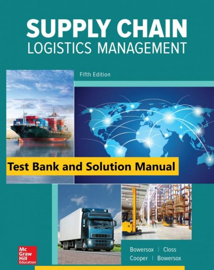 Supply Chain Logistics Management 5th Edition By Donald Bowersox and David Closs and M. Bixby Cooper © 2020cTest Bank and Solution Manual 774x1024 1