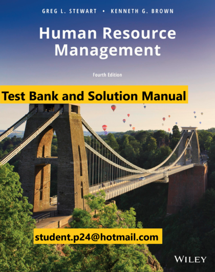Human Resource Management 4th Edition Stewart Brown 2019 Test Bank and Solution Manual 817x1024 1