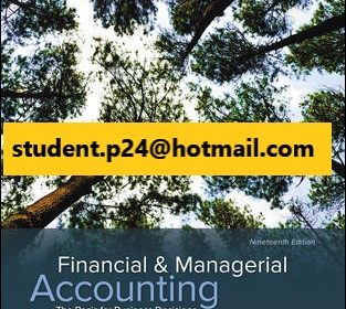Financial & Managerial Accounting 19th Williams © 2021 Test Bank